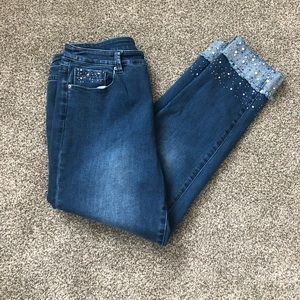 Soft Surroundings ladies cropped cuffed jeans